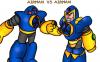 Game vs cartoon Air Man